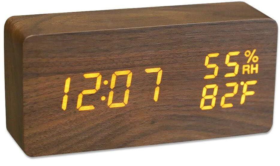 JCHORNOR wood alarm clock