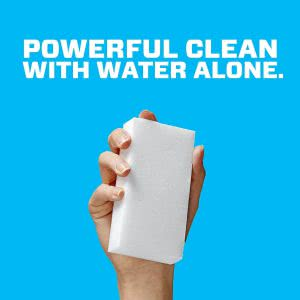 "Mr. Clean Magic Eraser multi-surface cleaner that says ""powerful clean with water alone"""