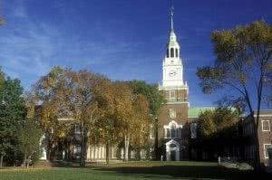 Dartmouth campus - be sure to follow up with college application advisors