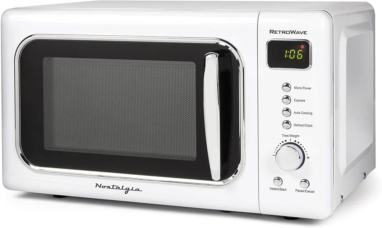 White Nostalgia retro microwave
