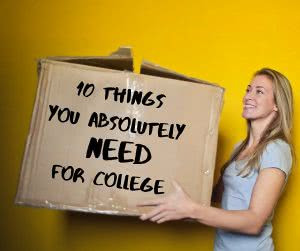 woman carrying box with what to bring to college