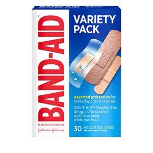 Band-Aid variety pack health kit