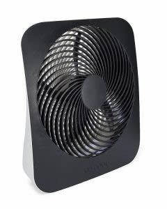 Black O2Cool portable desktop battery fan. Click to view its Amazon page.