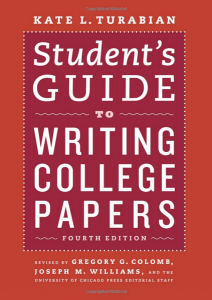 Student's Guide to Writing College Papers schoolwork book