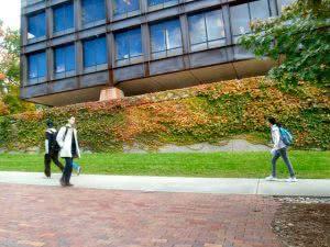 college visit at Cornell University