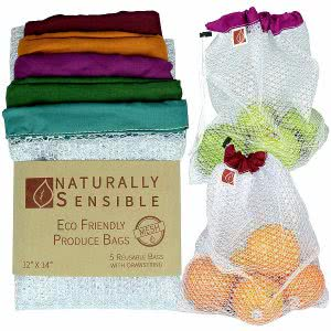 eco friendly Naturally Sensible washable produce bags