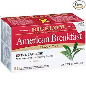 how to stay awake Bigelow black tea
