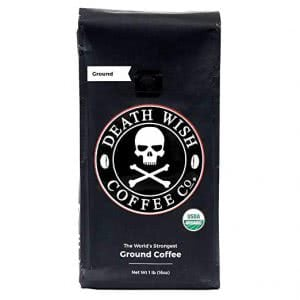 how to stay awake Death Wish ground coffee
