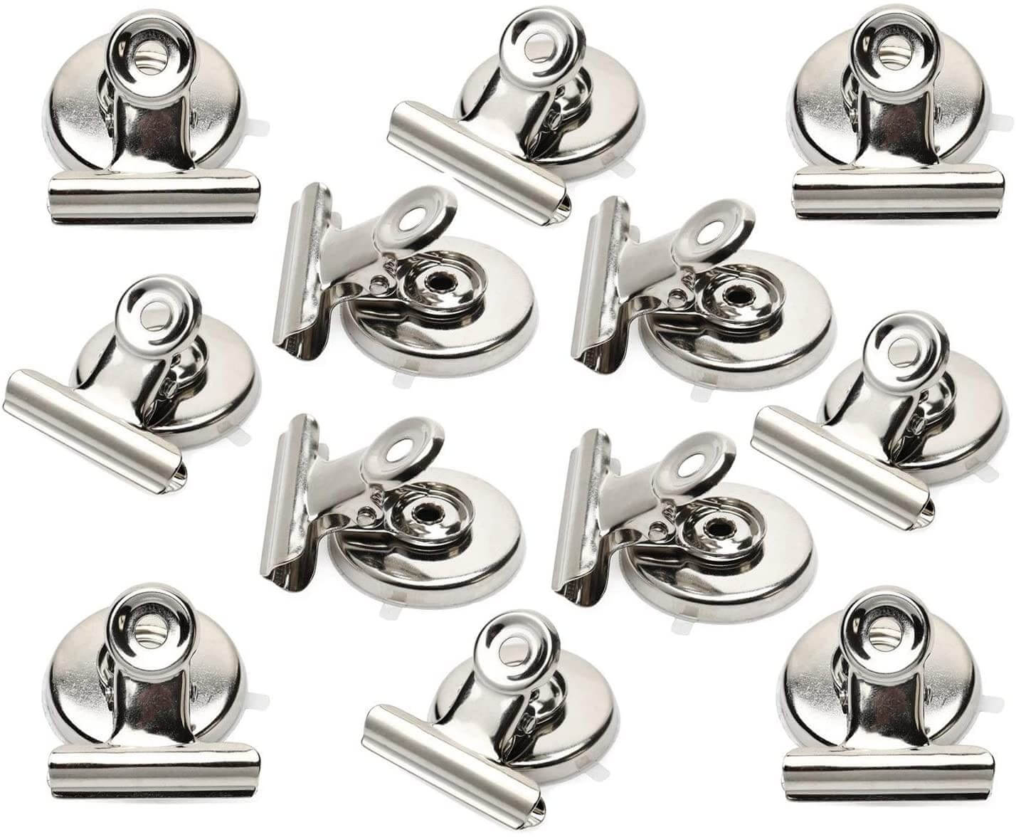Silver magnetic clips
