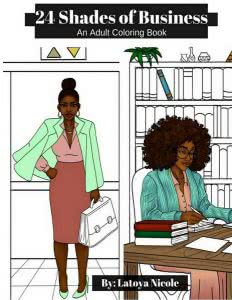 24 Shades of Business coloring book for business major