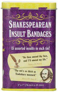 Accoutrements Shakespeare bandage gifts for english majors