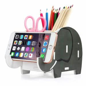 COOLBROS elephant pencil holder desk accessories
