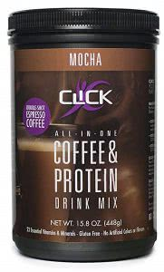 Click protein coffee mix college food