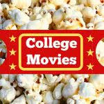 Popcorn with text, college movies