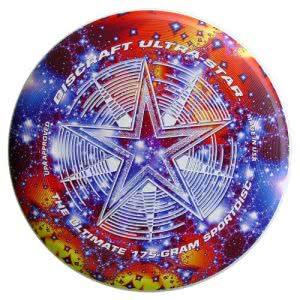 Discraft ultra-star flying disc.