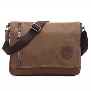 Brown Egoelife canvas satchel. Click to view the Amazon page.