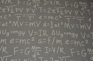 Math equations, like in the college movies Good Will Hunting
