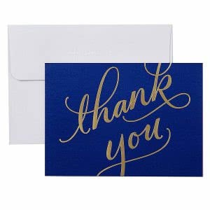 Hallmark thank you card