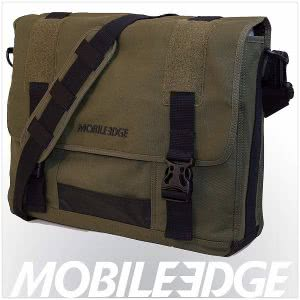 Olive green MobileEdge laptop bag. Click to view the Amazon page.