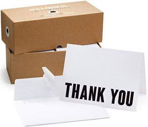Opie's Paper Company thank you card