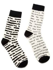Out of Print socks gifts for english majors