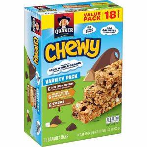 Quaker granola bar college food