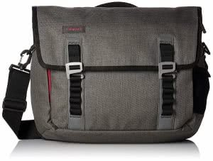 Grey Timbuk2 laptop messenger bag. Click to view the Amazon page.