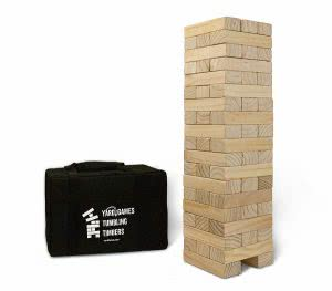 Yard Games wooden giant tumbling timbers with carrying case.