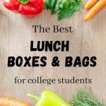 fresh food with text: the best lunch box and bag options for college students