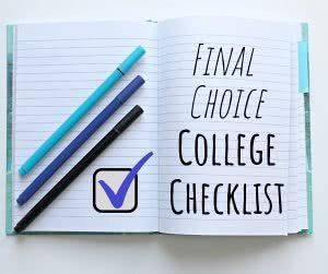 final choice college checklist