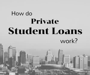 Cityscape with text: how do student loans work