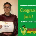 Runner up scholarship winner Jack Do