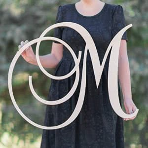 48 Hour Monogram wooden letter