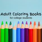 Colored pencils with text: adult coloring books