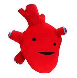 I Heart Guts heart plushie