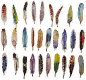 Momoka feather bookmarks