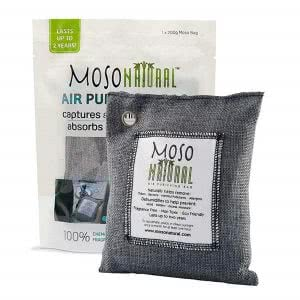 Bamboo charcoal deodorizer bag by Moso Natural. Click to view its Amazon page.