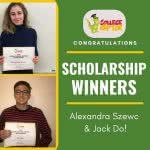 Image caption: Two students were selected as winners by College Raptor for the most recent scholarship program. Congratulations to winner Alexandra Szewc (top) and runner-up winner, Jack Do (bottom).