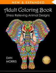 Stress Relieving Animals adult coloring books
