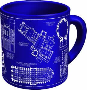 Unemployed Philosophers Guild architecture mug