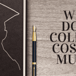 "A book with the outline of a student wearing a graduation cap, next to a fountain pen. Text overlayed that says ""why does college cost so much?"""