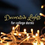 String lights with text: decorative lights for college dorms