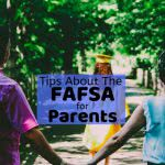Parents holding hand watching their daughter graduate with text: tips about the FAFSA for parents