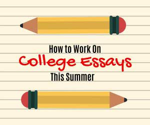 Pencil icons with text: how to work on college essays this summer