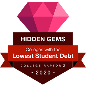 Hidden gems - colleges with the lowest average federal student loan debt