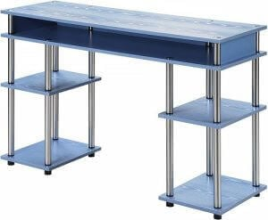 Modern blue student desk by Convenience Concepts. Click to visit its Amazon page.