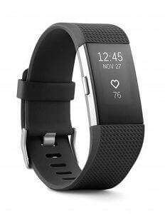 Black Fitbit wristband. Image linked to its Amazon page.