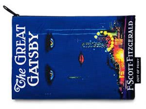 A Great Gatsby print pencil case by Out of Print. Image linked to its Amazon page.