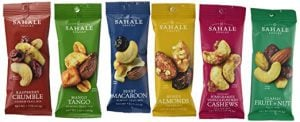 Six trail mix packs from Sahale Snacks. Image linked to its Amazon page.