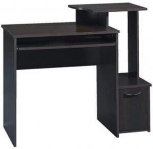 Asymmetrical wooden computer desk by Sauder. Click to visit its Amazon page.